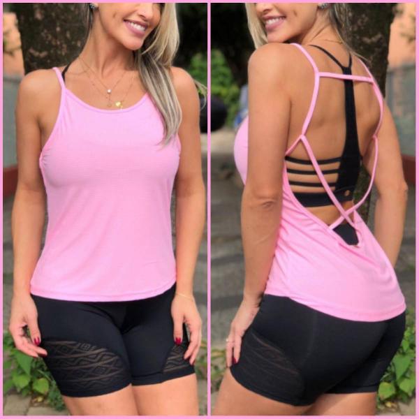 Regata fitness dry fit rosa chiclete lexa