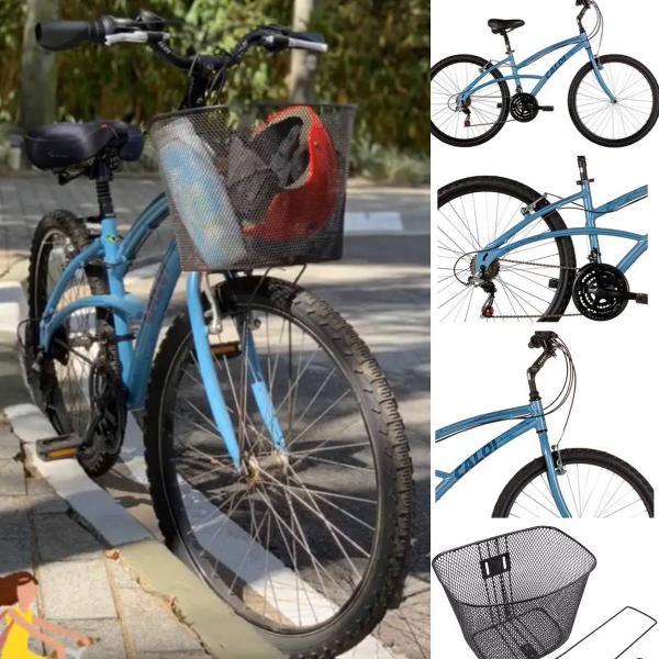 vendo bicicleta caloi 100 sport aro 26 21v azul - usada em