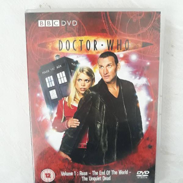 """Vol 1 da primeira temporada da série """"doctor who"""""""