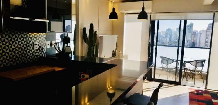 Apartamento com 1 quarto para alugar, 67 m² por r$