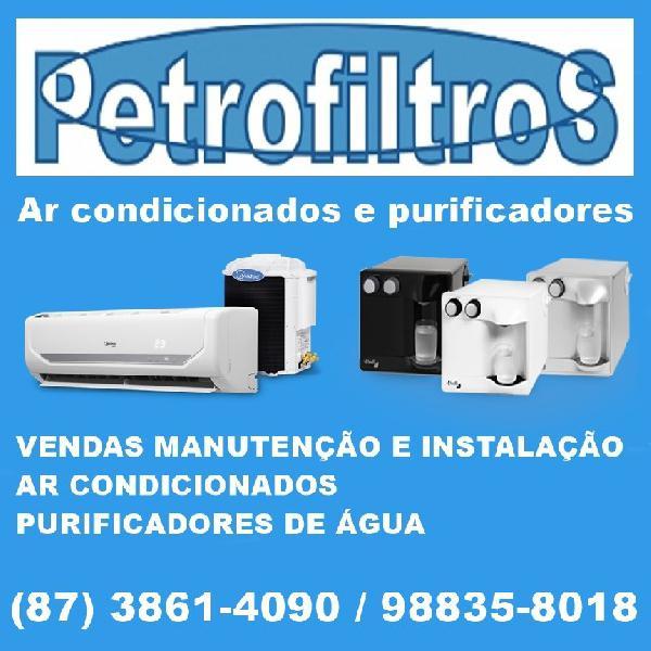 Ar condicionados e purificadores de água