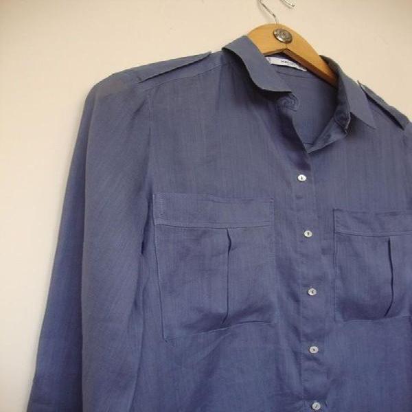 Camisa de linho mango - p m