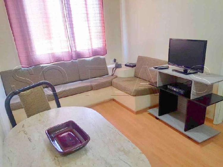 Flat com 1 quarto para alugar, 35 m² por r$ 1.200/mês cod.