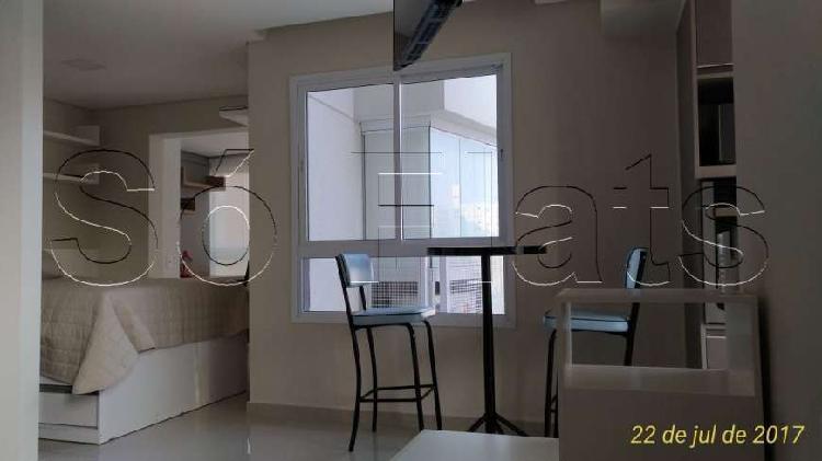 Flat com 1 quarto para alugar, 42 m² por r$ 3.545/mês cod.