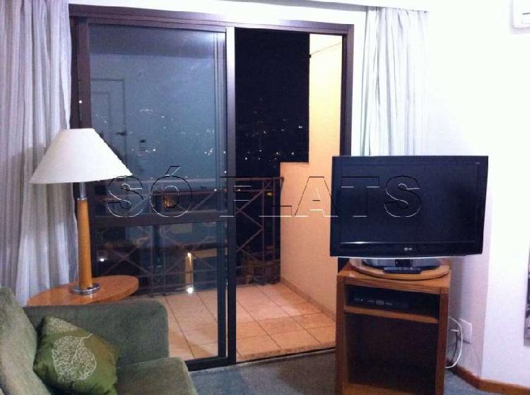 Flat com 1 quarto para alugar, 43 m² por r$ 1.484/mês cod.