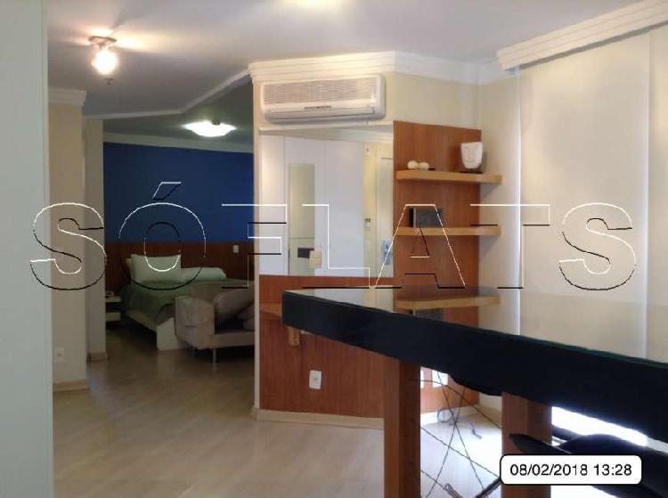 Flat com 1 quarto para alugar, 43 m² por r$ 2.985/mês cod.