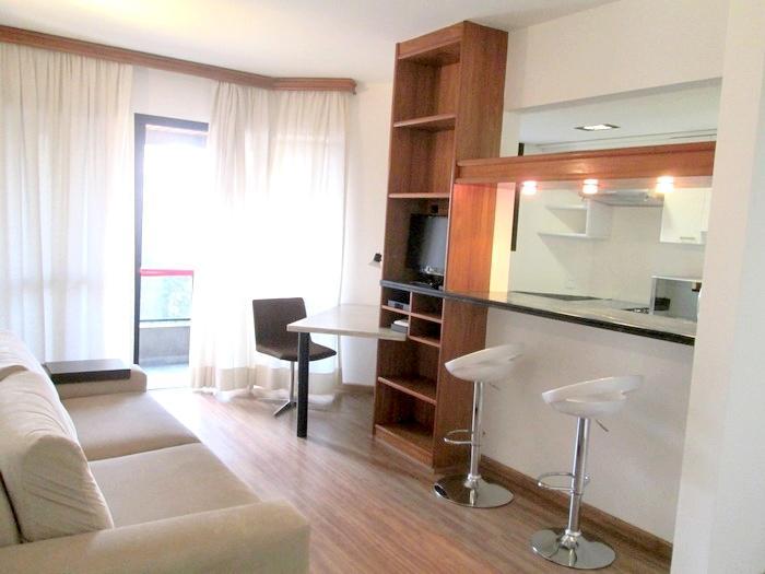 Flat com 1 quarto para alugar, 47 m² por r$ 2.000/mês cod.