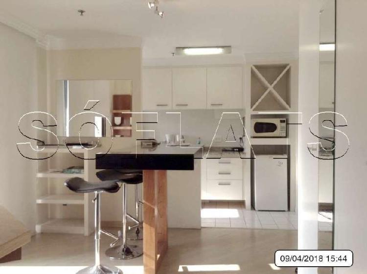 Flat com 1 quarto para alugar, 52 m² por r$ 2.000/mês cod.