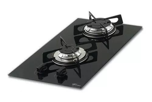 Fogão cooktop fischer chama rápida 2 bocas vidro preto