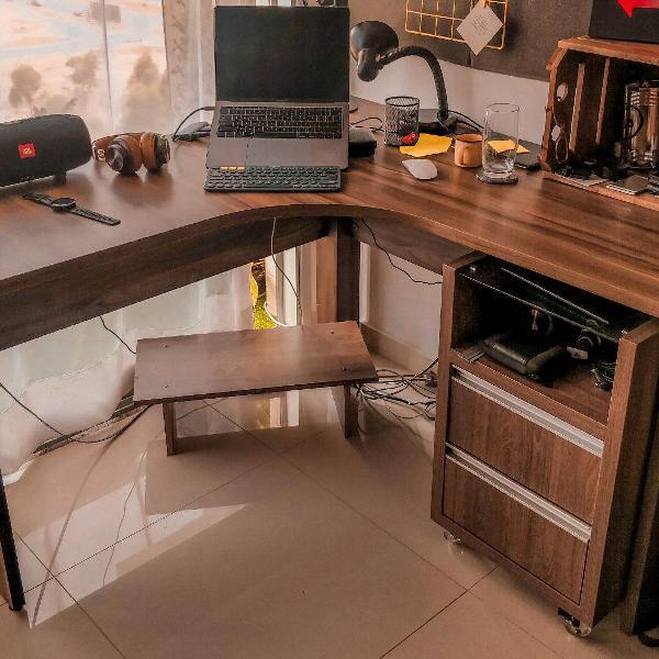 Mesa para escritório mdf em l