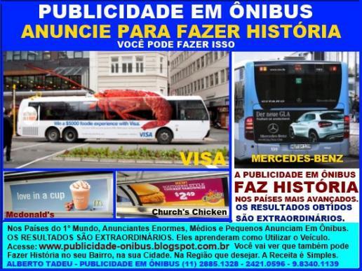 Publicidade em ônibus - anuncie para fazer história -