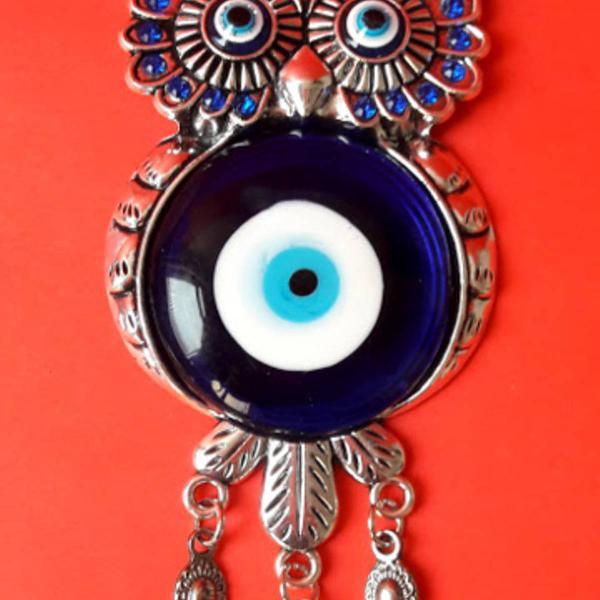 Talismã esotérico coruja c/ olhos gregos