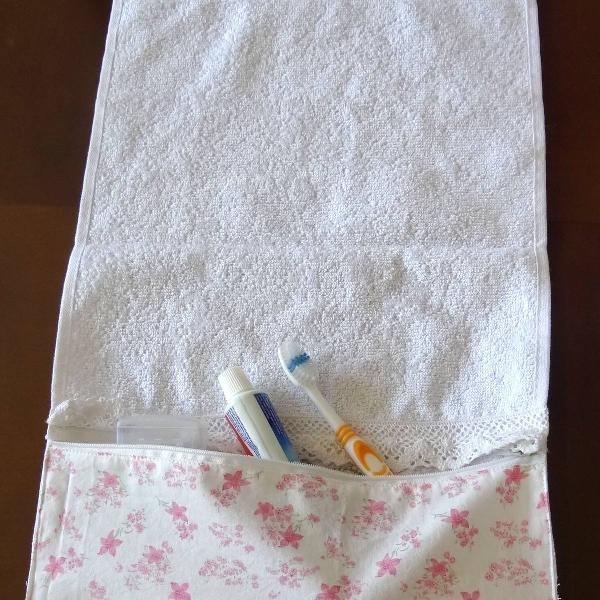 Toalha porta escova de dente