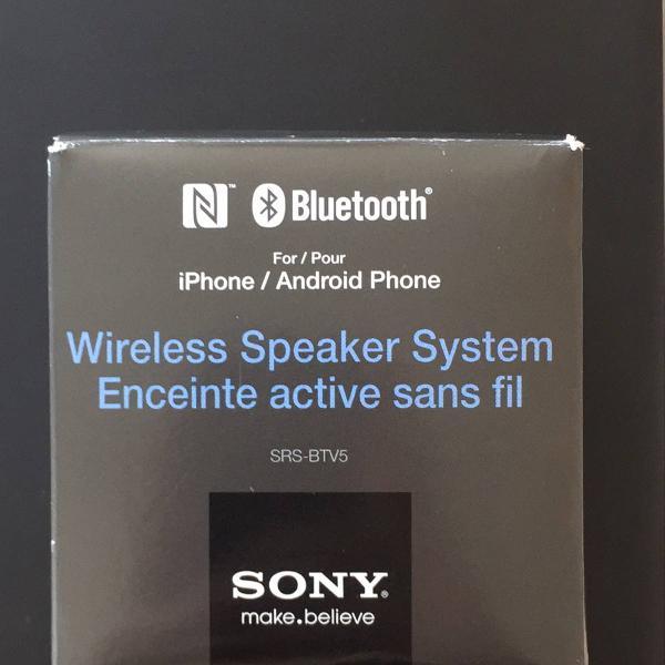 Caixa de som portátil sony srs-btv5 bluetooth e nfc