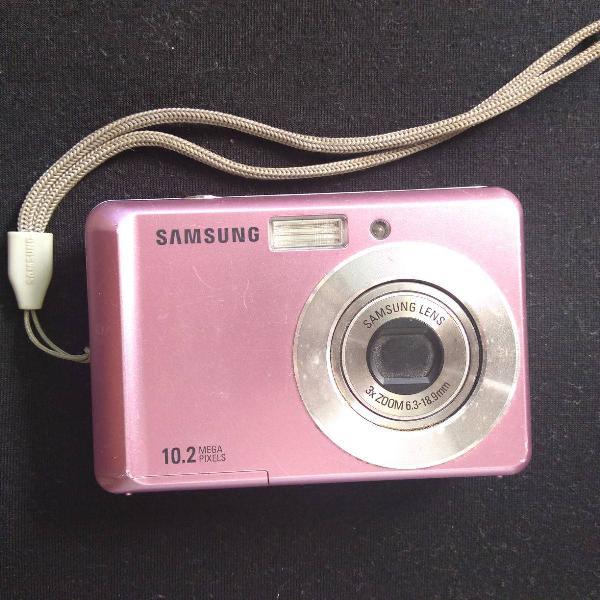 Câmera digital samsung es15 rosa 10.2 megapixels