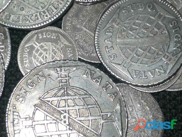 COMPRO MOEDAS DE PRATA ENTRE 1.643 A 1848 PAGO R$2.800,00 O KG 2