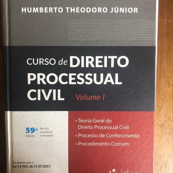 Curso de direito processual civil volume i 59ª edição