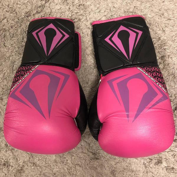 Luva de boxe rosa