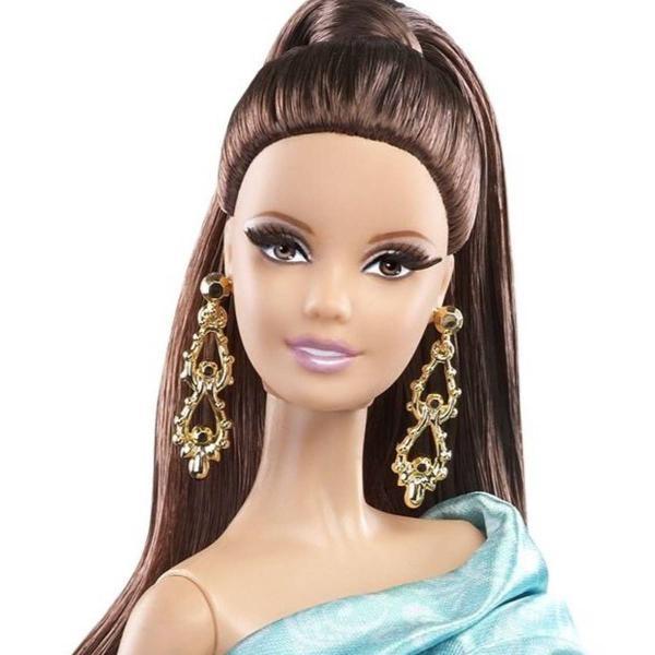 Mattel the barbie look red carpet brunette