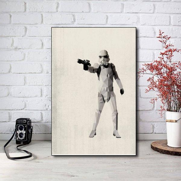Placa stormtrooper filme star wars