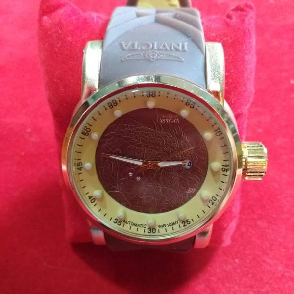 Relógio invicta yakuza marrom/dourado s1