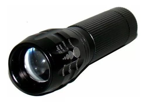 2 mini lanterna tática led com zoom ajustavel 1x até 2000x