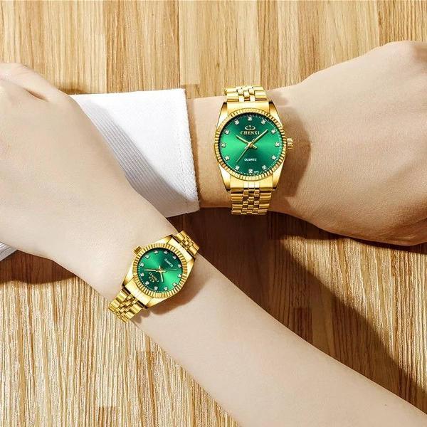 49 vendidos relógio feminino chenxi dourado prova d água