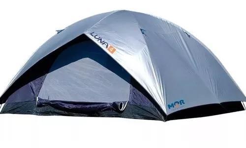 Barraca 4 pessoas luna acampamento camping impermeável mor