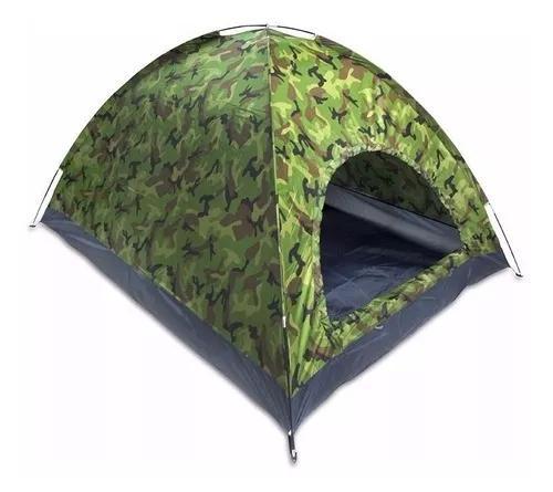 Barraca camping camuflada militar 3 lugares automática