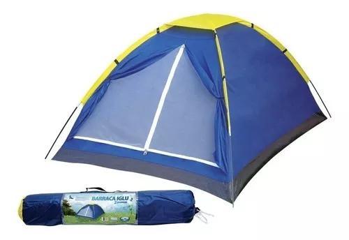 Barraca camping iglu 4 pessoas acampamento praia + bolsa mor