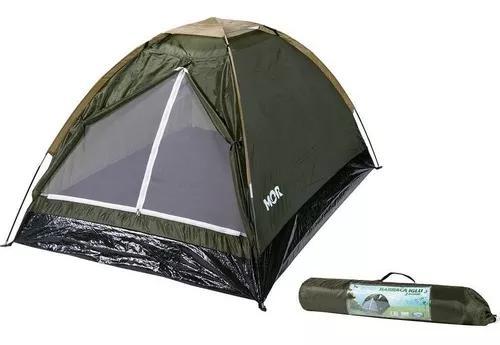 Barraca camping iglu eco para 2 pessoas verde - mor 9046