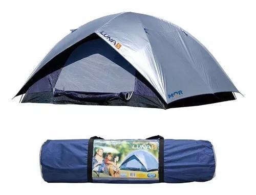 Barraca camping iglu luna 5 pessoas 240x240x130 c/ sobreteto