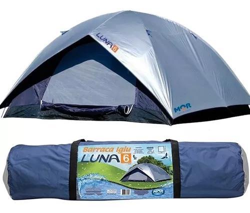 Barraca camping iglu luna 6 pessoas 260x260x165 c/ sobreteto