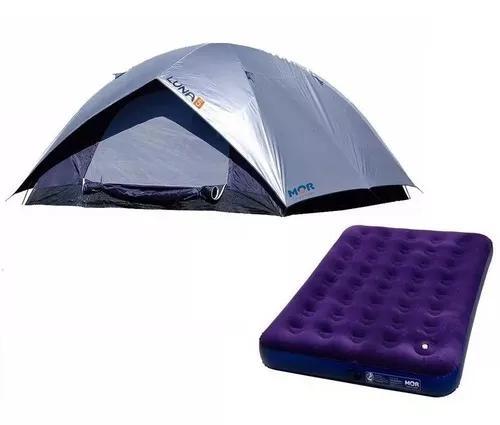 Barraca camping luna 5 pessoas + colchão casal inflável