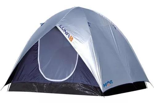 Barraca camping luna 5 pessoas grande sobreteto promoção