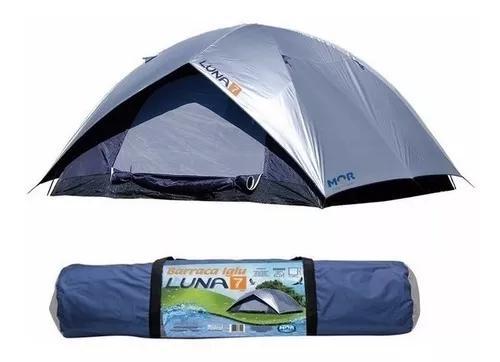 Barraca camping tenda luna 7 pessoas acampamento praia mor