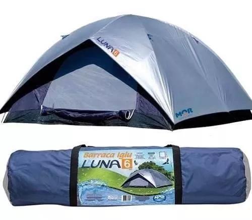 Barraca camping tenda luna iglu 6 pessoas acampamento praia