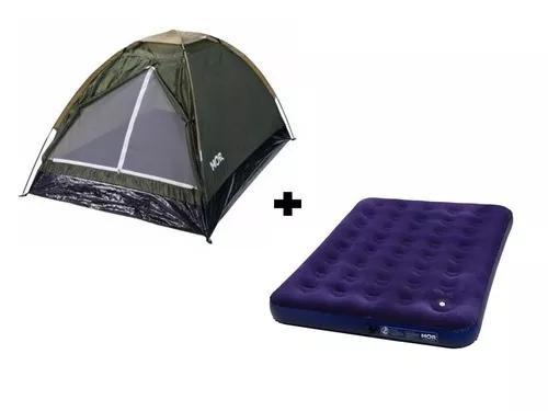 Barraca de camping 2 pessoas + colchão casal inflável