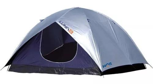 Barraca de camping iglu luna 6 pessoas com sobreteto mor