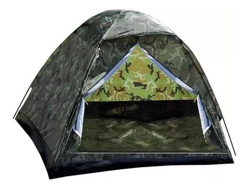 Barracas camping camuflada militar 6 lugares + frete gratis