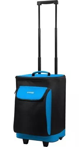 Bolsa térmica cooler com rodinha carrinho 25 litros praia