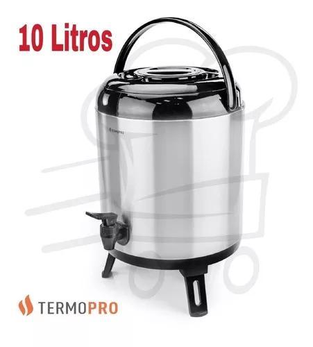Botijão garrafa térmica aço inox 10 litros - termopro