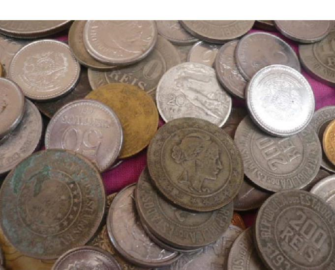 Compro moedas anteriores ao ano de 1960 pago r$20,00 o quilo