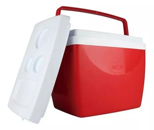Caixa térmica 34 litros cooler 50 latas com alça mor