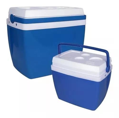 Caixa térmica 34 litros e 18 litros cooler alça mor