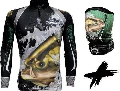 Camisa + bandana king protecao solar uv30+ tamba modelo novo