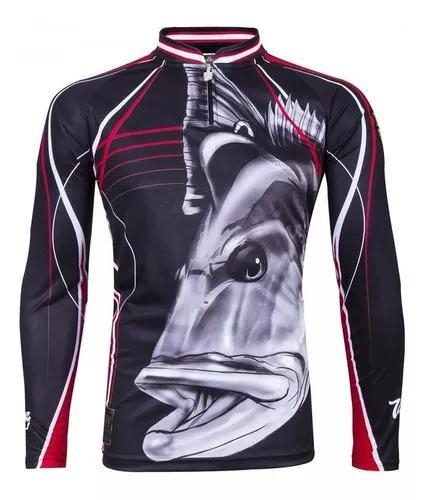 Camisa camiseta pesca king proteção uv kff 109 - tucunare