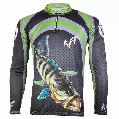 Camisa d pesca sublimada protecao solar manga longa tucunare