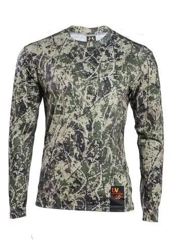 Camisa de pesca camuflada 2 peças - terra nativa