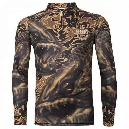 Camisa de pesca king protecao solar uv30+ trairão viking 04